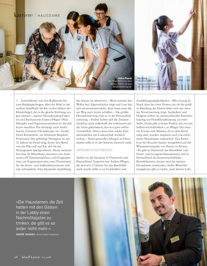 Heike Plesch - Falstaff Karriere Nr. 05/2018 Seite 118