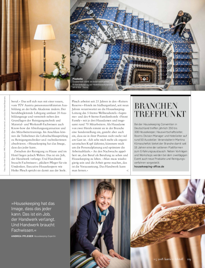 Andrea Pfleger - Falstaff Karriere Nr. 05/2018 Seite 119